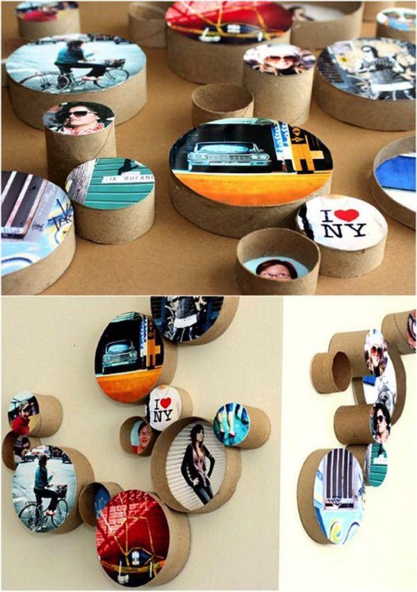 20 marcos para fotos caseros  y muy creativos.   #marcos #fotos #manualidades…
