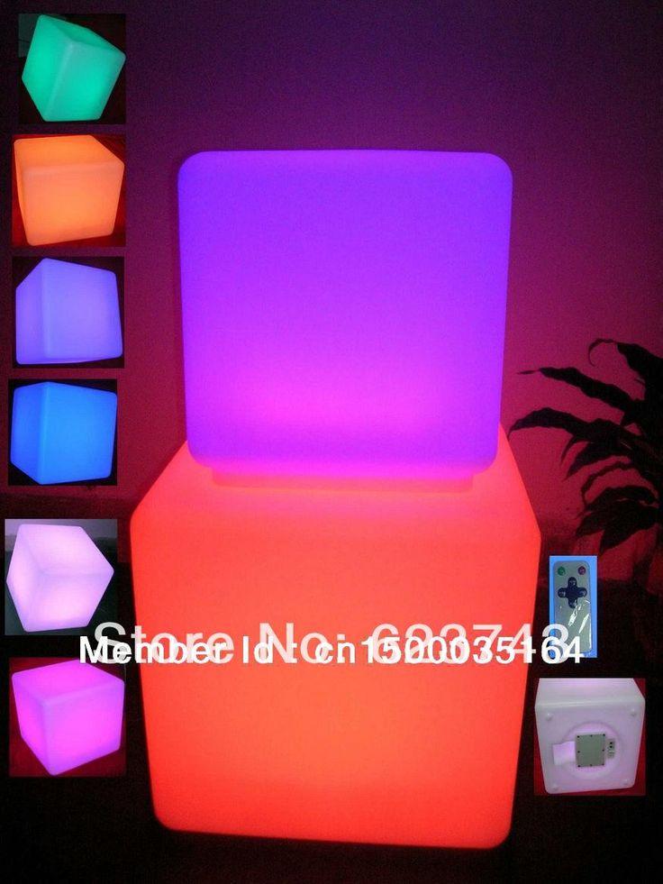 Dipimpin furniture menyala! tahan air 40*40*40 CM dipimpin kubus dengan remote control, lampu LED up bangku kursi, bercahaya led cube luar