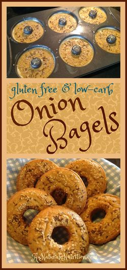 Onion Bagels.  YUM!  Paleo, low-carb, gluten free!