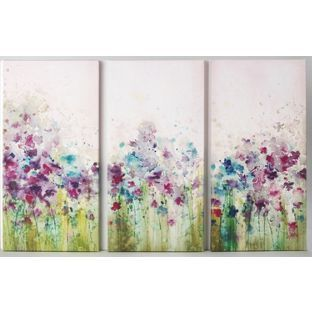 Buy Graham & Brown Watercolour Meadow Triptych Canvas - Set of 3 at…