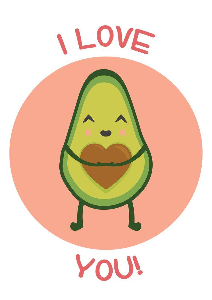 Авокадо с лицом рисунок