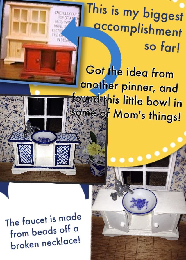 barbie furniture ideas. Kitchen Sink, Dollhouse Miniatures! DIY Barbie Furniture Ideas R