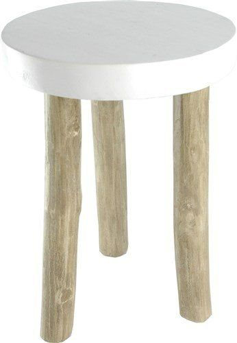 GO'ROUND HOUTEN KRUKJE GROGOL  Leuk stoer houten krukje Grogol van Go'Round. Leuk voor de kinderkamer of met wat andere krukjes rond je tafel. Fun en functioneel! https://www.bricliving.nl/wit-houten-krukje-grogol.html
