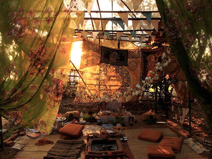 Bohemian pillow area of peace... I plan to create a masterpiece like this one day.