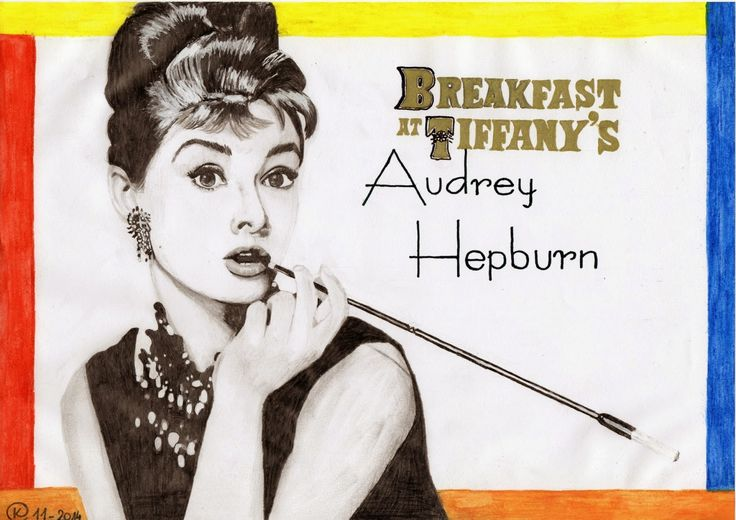 Kasia Oetelaar Art: PROJECT: Audrey Hepburn - Breakfast at Tiffany's