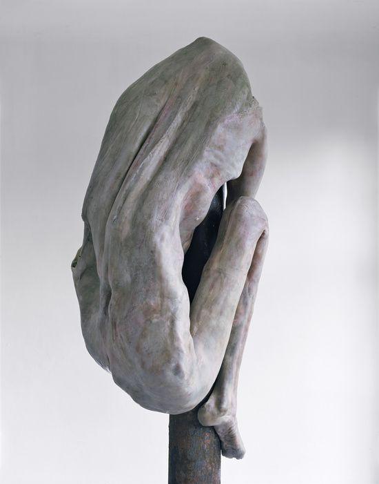 Some days.  (Berlinde de Bruyckere - Schmerzensmann IV (2006)  Epoxy, wax and iron)