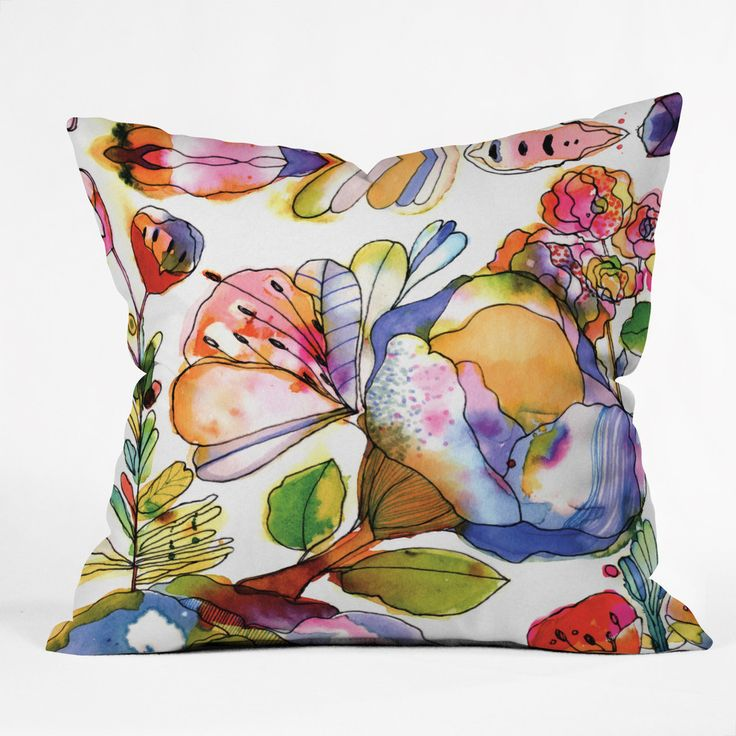 CayenaBlanca Blossom Pastel Outdoor Throw Pillow | DENY Designs Home Accessories