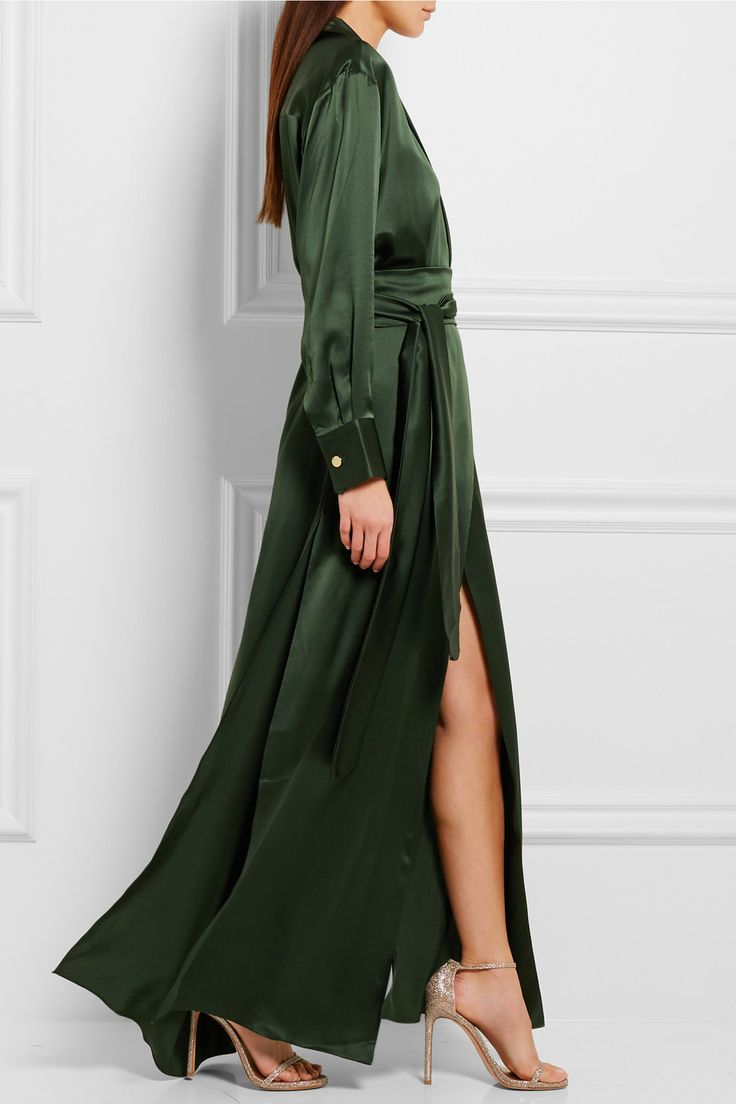 Michael Lo Sordo | Silk-satin maxi dress | NET-A-PORTER.COM