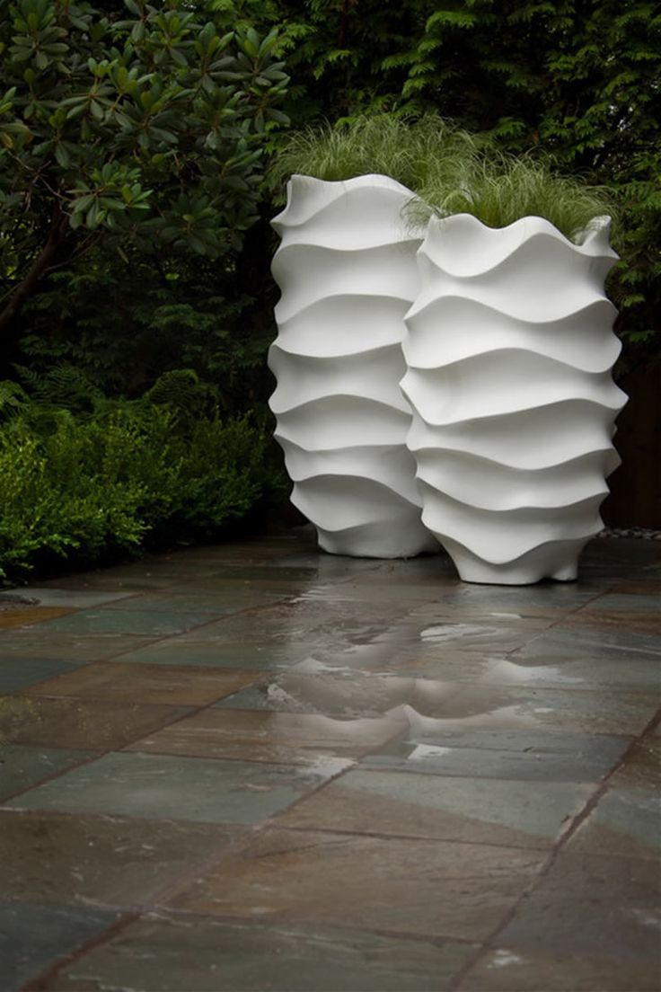 Contemporary Planters for Outdoor and Indoor Garden Accessories Design Ideas by Marie Khouri-very interesting design