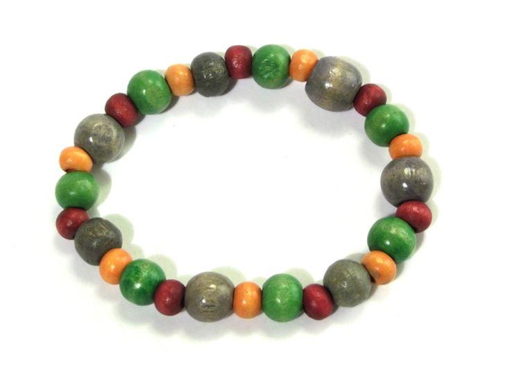 Bracelet - wooden beads from betulek by DaWanda.com  #bracelet #boho #wood #beautiful #trendy #quality #instagood #fashion #braceletsoftheday #jewelry #fashionlovers #fashionista #accessories #wristwear #betulek #bybetulek #look #greenery