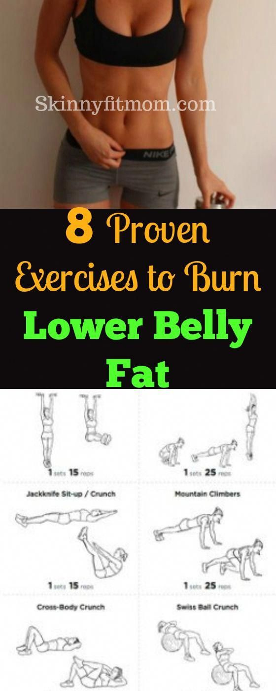8 Proven Exercises To Burn Lower Belly Fat for Women - Eliminate lower belly fat...