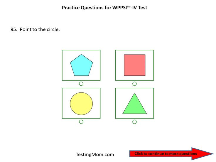 Practice Questions for the WPPSI-The Wechsler Preschool and Primary Scale of Intelligence™