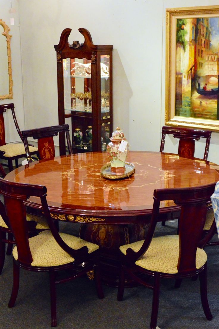 EXQUISITE Dining Table With 8 Chairs Dimensions Of Round 7400 X