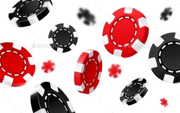 Flying Red And Black Casino Chips Casino Chips Casino Poker Chips