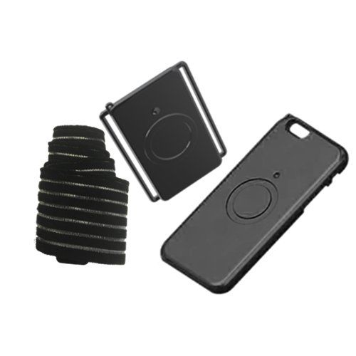 OnYou OYi6B Black iPhone6/6s Magnetic Mobile Accessory. Keeps your phone secure and accessible during any activity!. A strong neodymium magnet keeps your phone in place so you don't have to worry about damaging or losing your phone. When you want to use your phone, simply twist the case 45 Degree and it will disconnect from the armband. Elastic armband fits comfortably on your arm and never slides down while you run. Great for running, biking, hiking, and many other sports.
