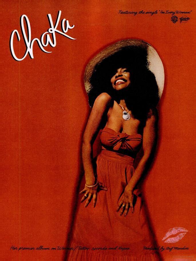 """Chaka Khan """"Chaka"""" LP Release promotional art."""