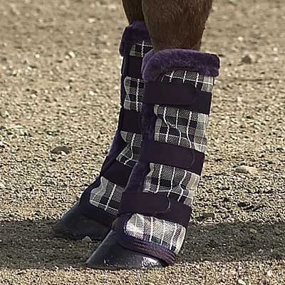 Kensington KPP Protective Fly Boots, English Hunter Plaid, Horse by Kensington. $29.99. Prevents injury, insect bites, mud, sand, dirt & adds protection while shipping. Plastic stay under fleece to keep boots upright for maximum protection. Textilene with fleece trim. 3 hook & loop closures. Fly boots. These are the only boots on the market today that have a plastic stay built under the fleece, allowing the boots to stay upright and protect the legs. Kensington's P...