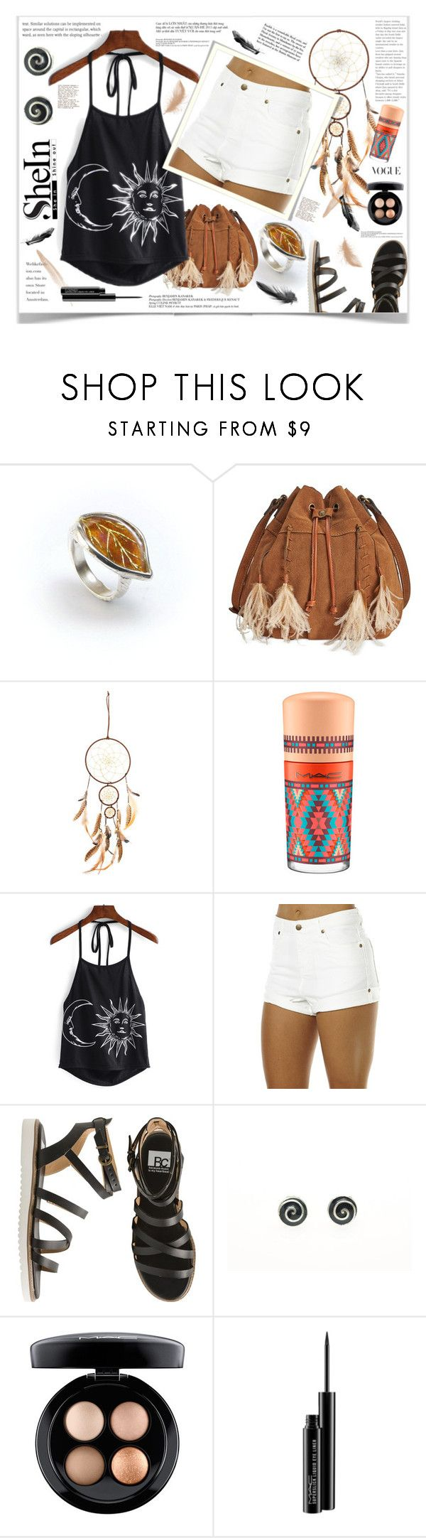 """Moon & sun"" by giampourasjewel ❤ liked on Polyvore featuring Patricia Nash, WALL, MAC Cosmetics, Zulu & Zephyr, BC Footwear, sushi, crazyforfashion and shein"