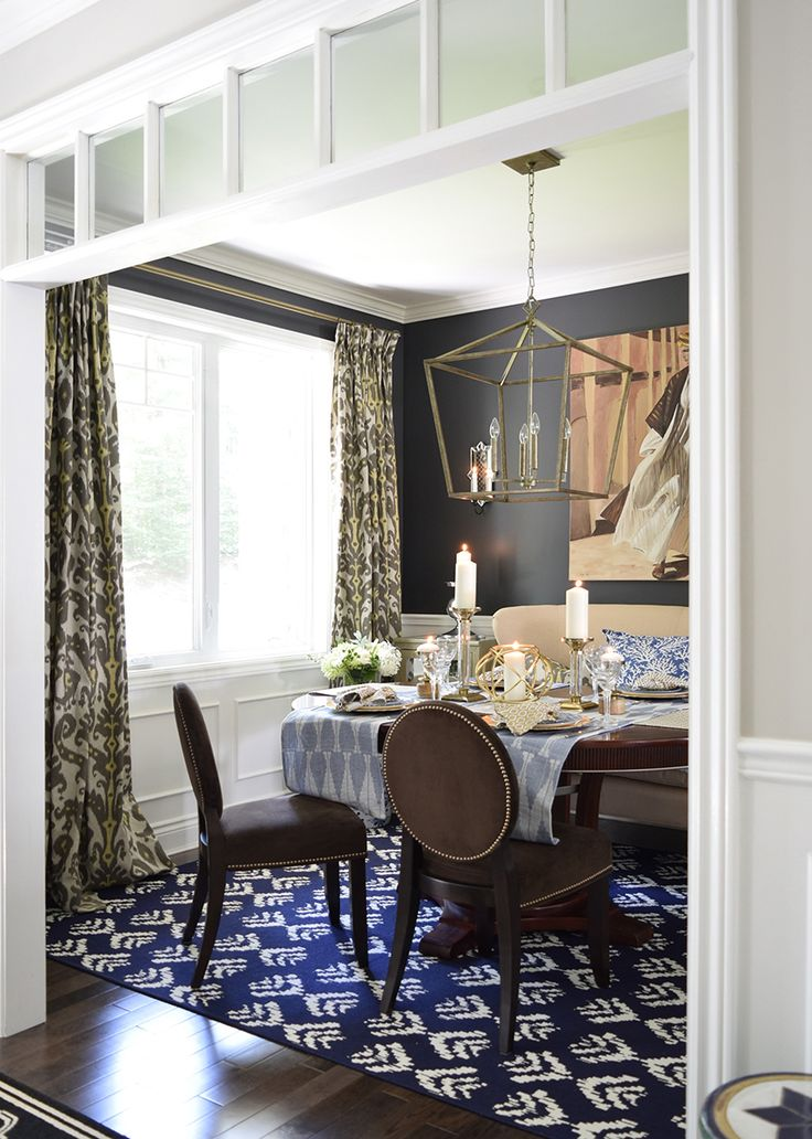 Black Walled Dining Room on the FH Dinner Party Series Guest Tamara of Citrine…