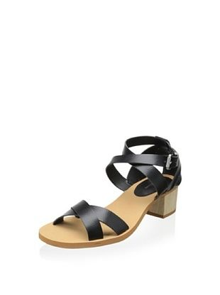 40% OFF Calvin Klein Jeans Women's Molly Sandal with Chunky Heel (Black)