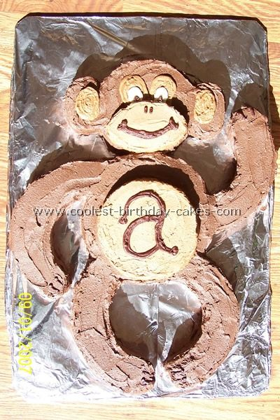 Monkey Birthday Cake. Perf for hayley and Diana!