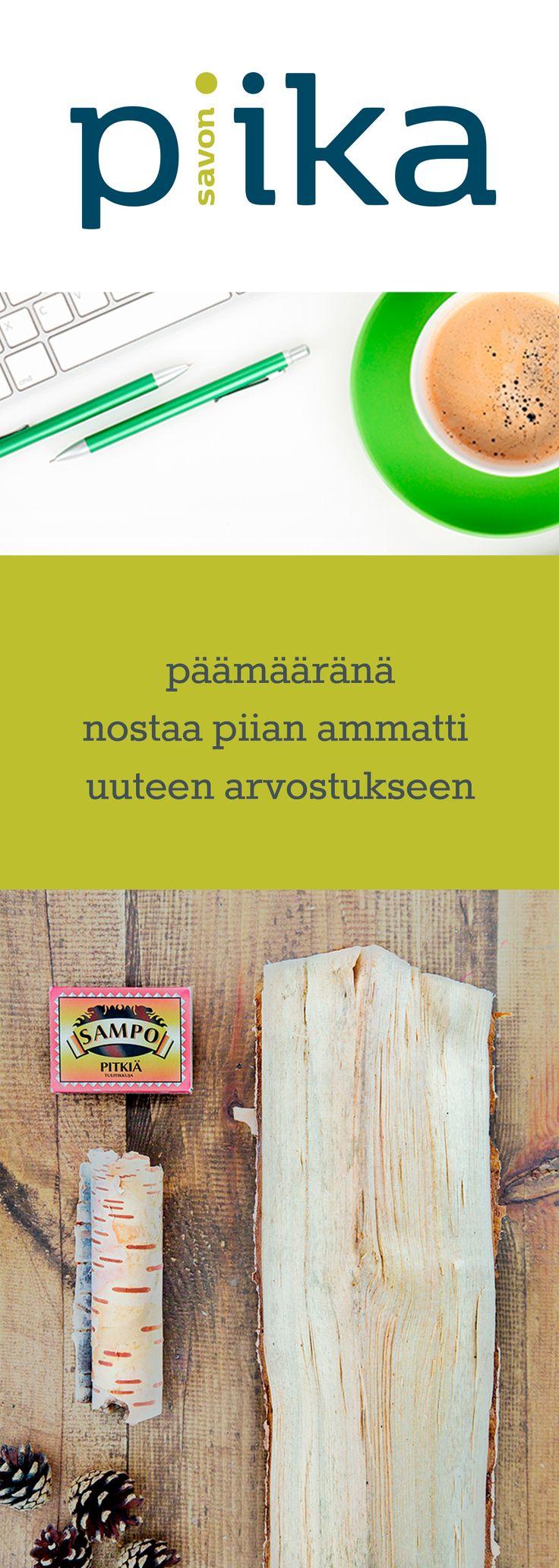 Yritysilmeen facelift ja verkkopalvelun uudistus, Savon Piika. www.savonpiika.fi