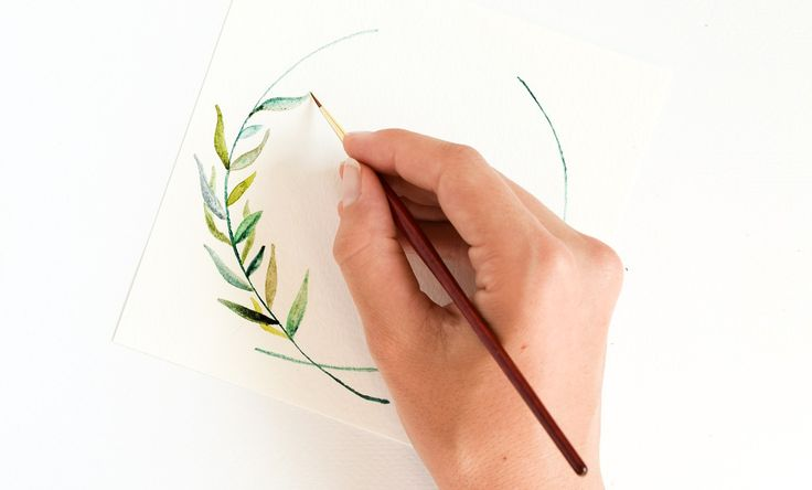 Mediterranean Royalty Laurel Wreath Watercolor Tutorial