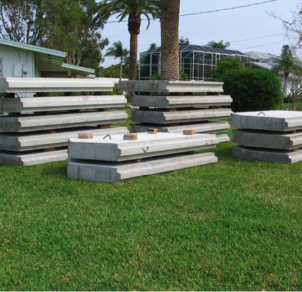 Prefabricated Seawall Panels Ready For Installation