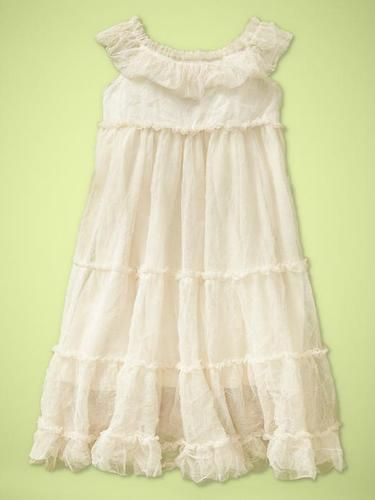 Delilah's dress for pictures. :)  Ivory tulle dress from Baby Gap Garden Party / Key West.
