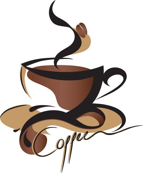 Coffee Object design elements vector 02