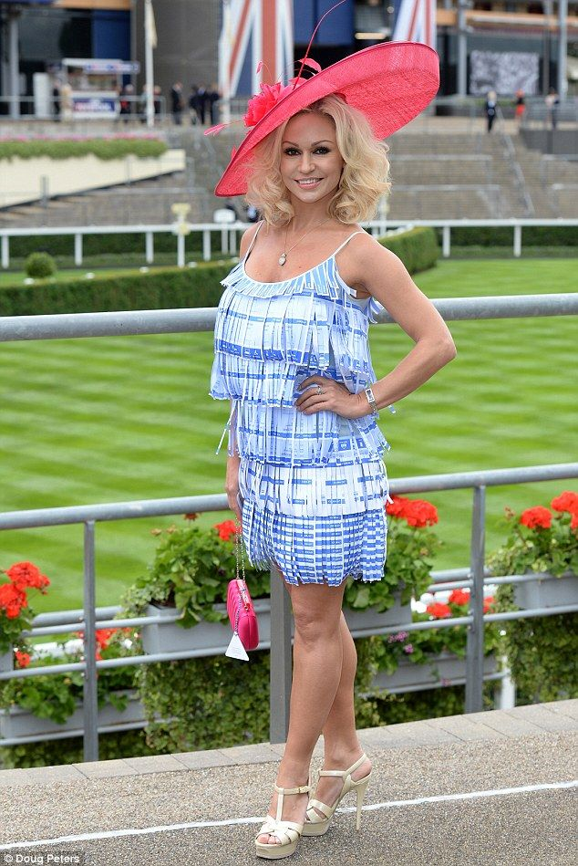 It all started so well! Kristina Rihanoff turned up to the event wearing a dress made of Coral betting slips on the second day of Royal Ascot 2014, Ascot Racecourse, Berkshire. But things soon took a turn for the worse