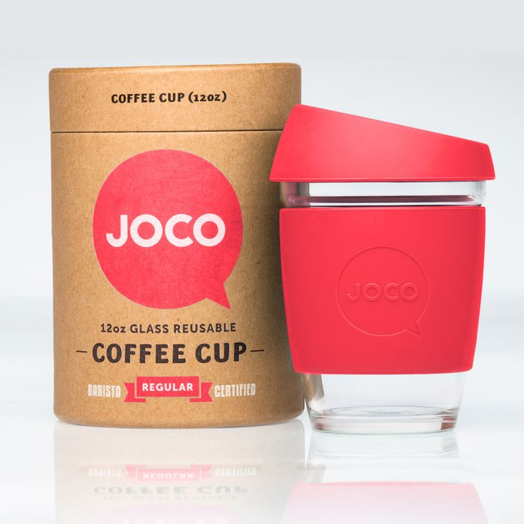 New at Ease Living! The Reusable Glass Coffee Cup by Joco -stylish & smart
