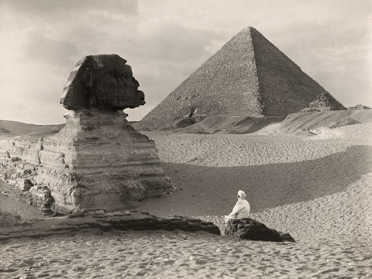 "In 1928 National Geographic Editor Gilbert H. Grosvenor wanted ""outdated"" photographs of the Great Sphinx of Giza—images made prior to excavation—removed from the archive. This 1921 photo by Donald McLeish survived and has been in the image collection for over 90 years."