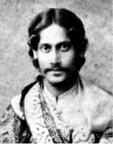 Rabindranath Tagore. Just to show he wasn't always an old man with a long white beard.