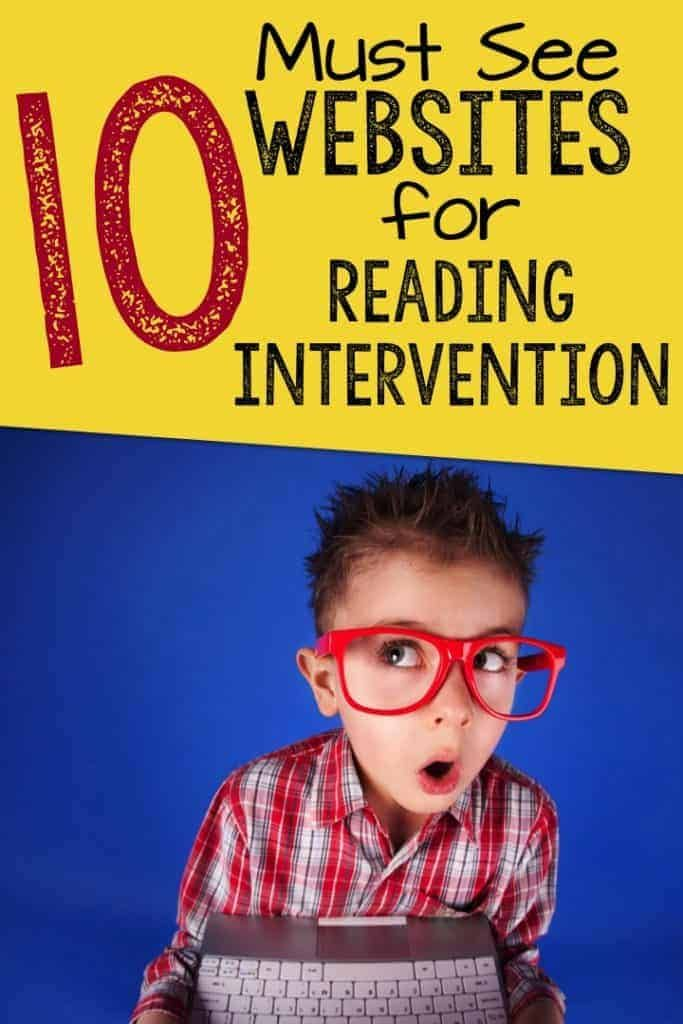 websites for reading intervention to support struggling