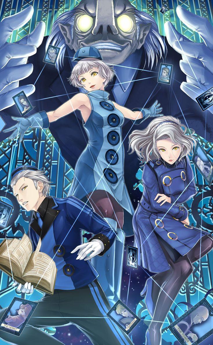 Elizabeth & Theo & Margareth Persona 3 anime game