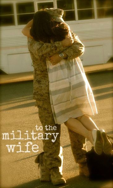 """This is to you, the Military wife."" This is a beautiful read - MilitaryAvenue.com"