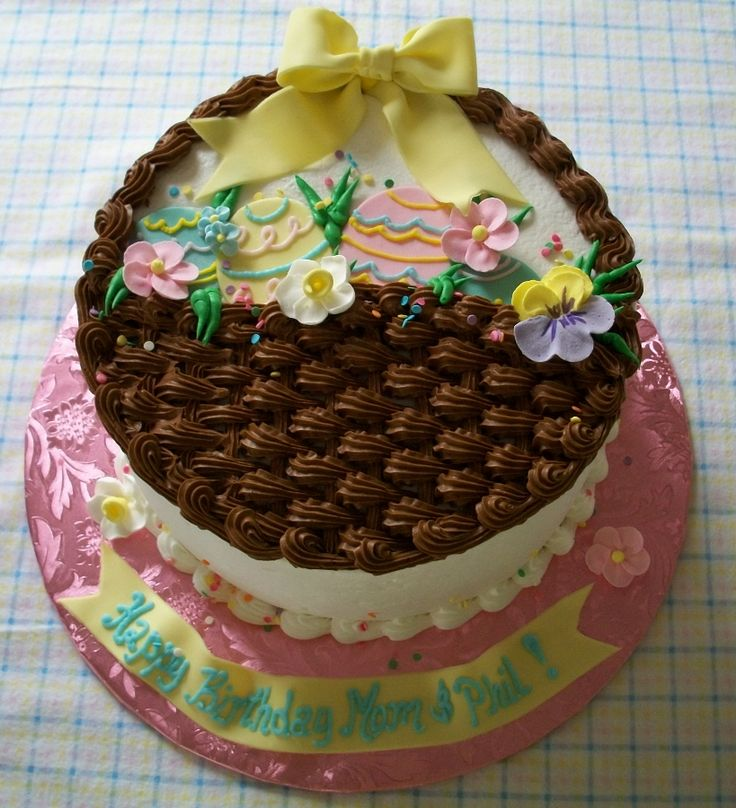 Cake Decorated With Easter Eggs : 1209 best images about Easter / Spring Cupcakes & Cakes on Pinterest Easter egg cake, Bunny ...