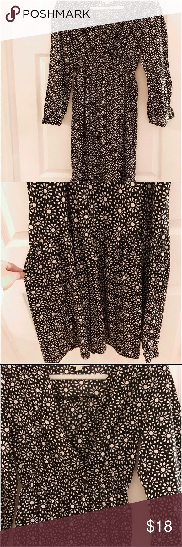 Black and White Print Maxi Dress!!! Purchased from ASOS!! Brand New Black & White Print Maxi Dress with Open Sleeves!! ASOS Dresses Maxi
