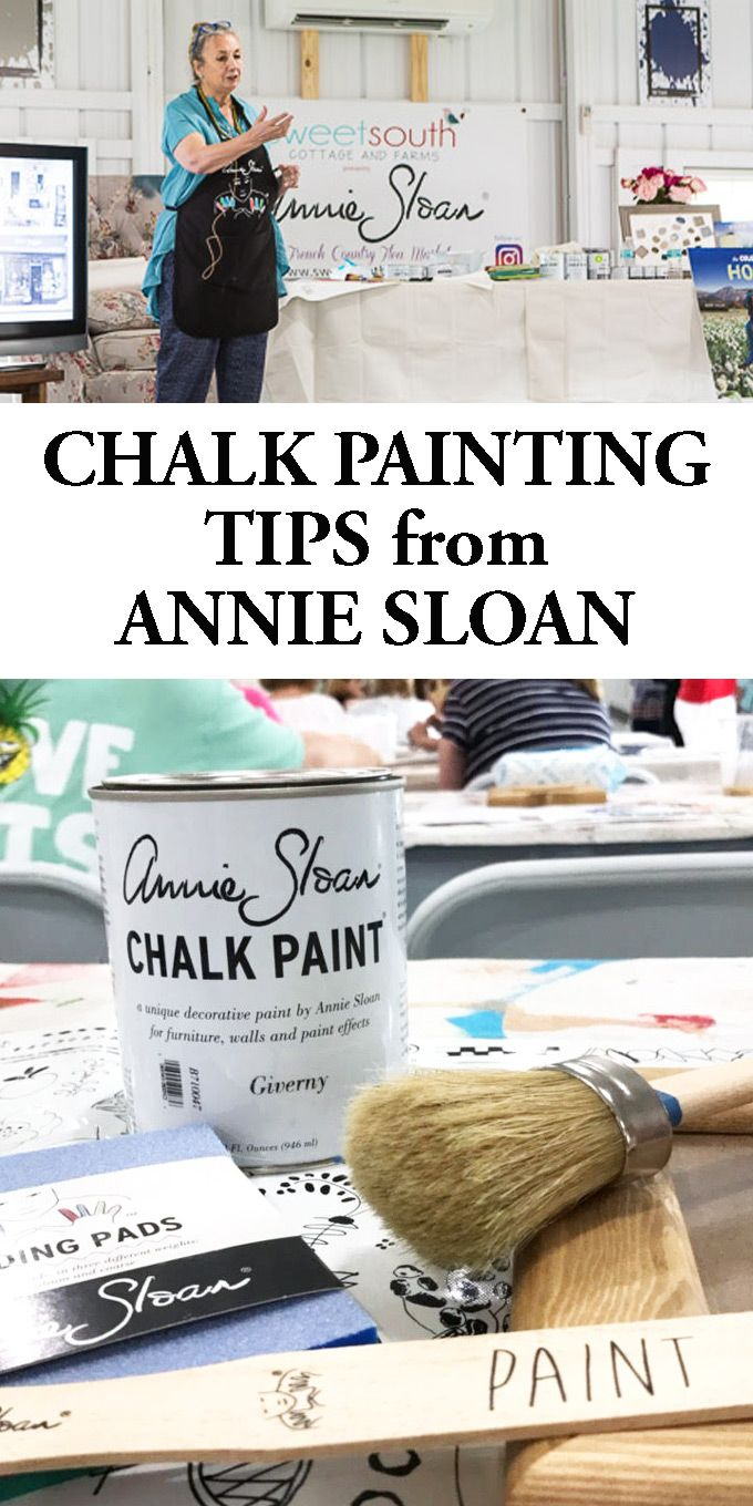 I am sharing chalk paint furniture painting tips that I learned when I attended a painting workshop with the inventor of Chalk Paint herself, Annie Sloan. #chalkpaint #anniesloan #FurniturePaintingTips