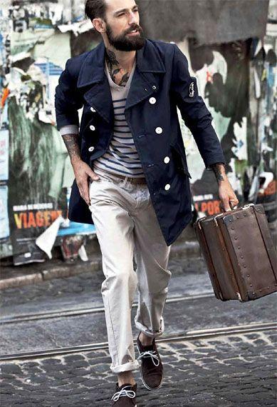 Stylish tattoo: Outfitsstreet Style, Beards Gent, Men Style, Lucio Style, Outfits Street, Stylekick Mensfashion, Men Fashion, Sailors Style, Menswear Style