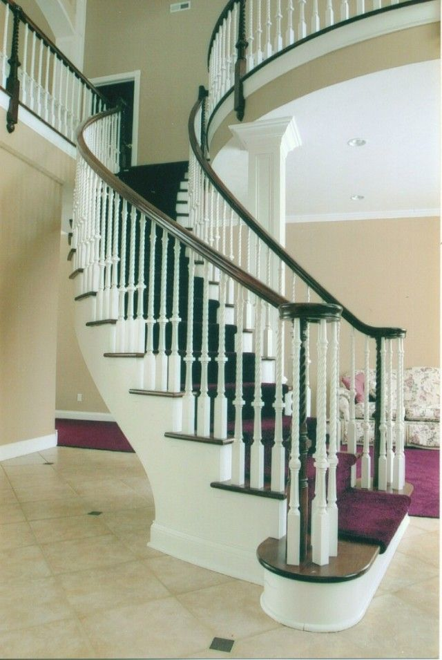 17 best images about circular curved stairs on pinterest for Curved staircase design plans