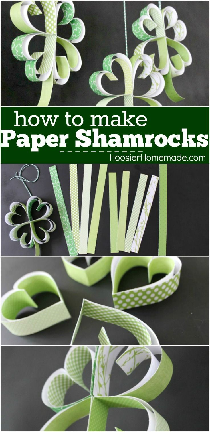 St. Patrick's Day Craft: How to make Paper Shamrocks