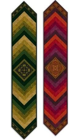 ~ free pattern ~  Medallion table runner, a French Braid design, by Jinny Beyer