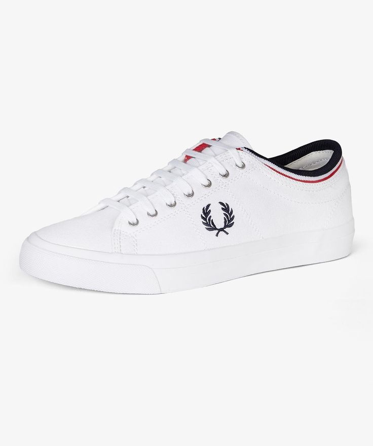 Fred Perry Kendrick Tipped Cuff Canvas Shoe, from ApacheOnline