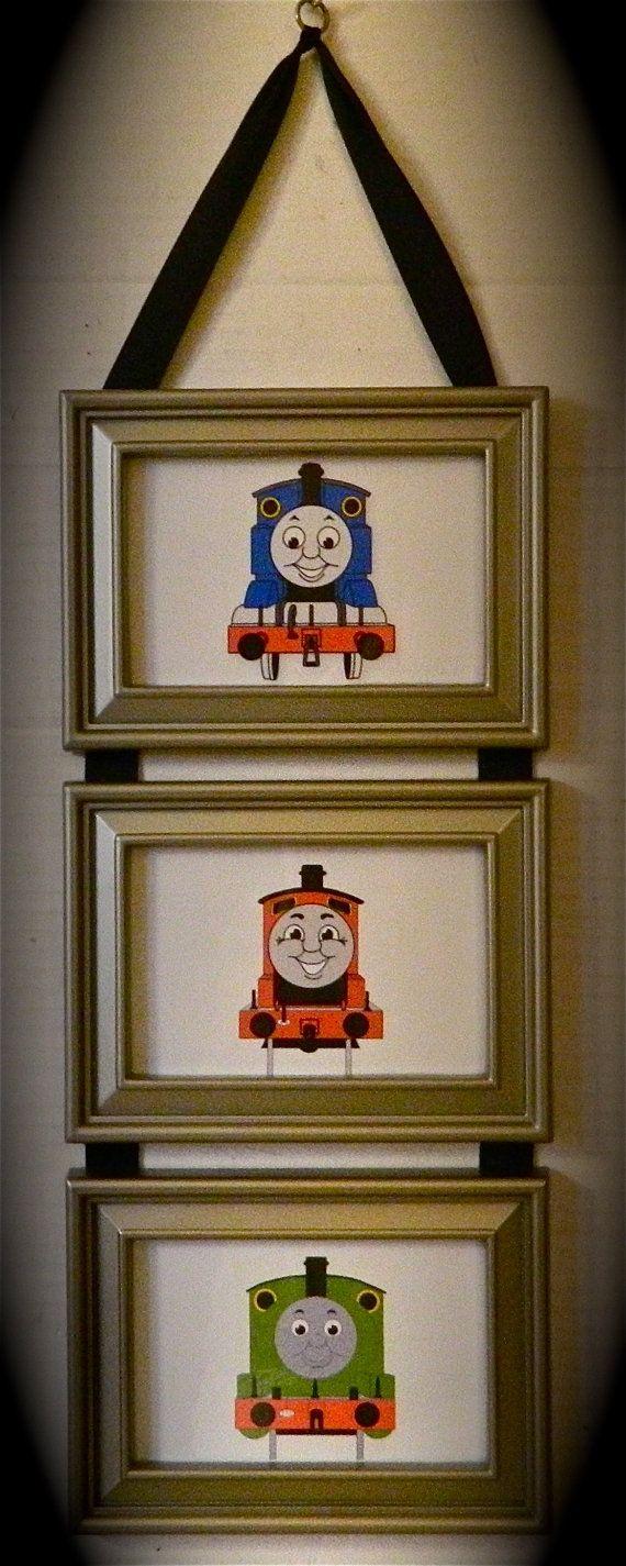 Kids Room Thomas The Tank Engine Train & Friend Picture by BirdieGirlsTreasures