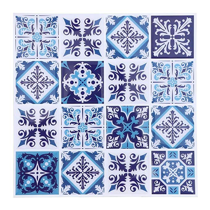 Blue Peel And Stick Tiles Moroccan Style Stick On Tiles Backsplash Peel And Stick Wallpaper For Wall Stickers Wallpaper Stick On Wall Tiles Peel And Stick Tile