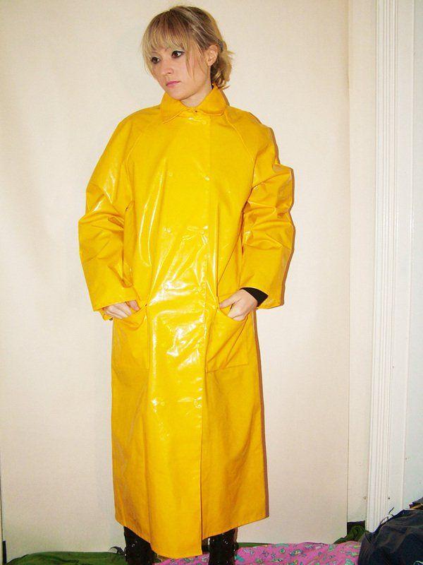 Yellow pvc mac