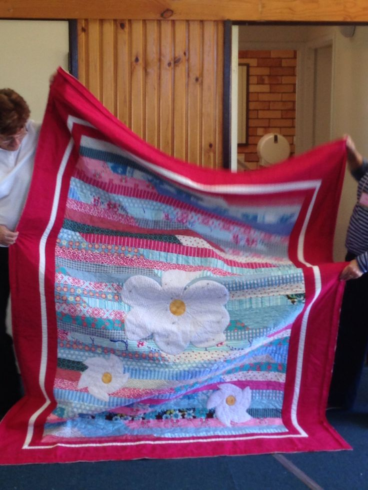 Jill's jelly roll race quilt almost finished