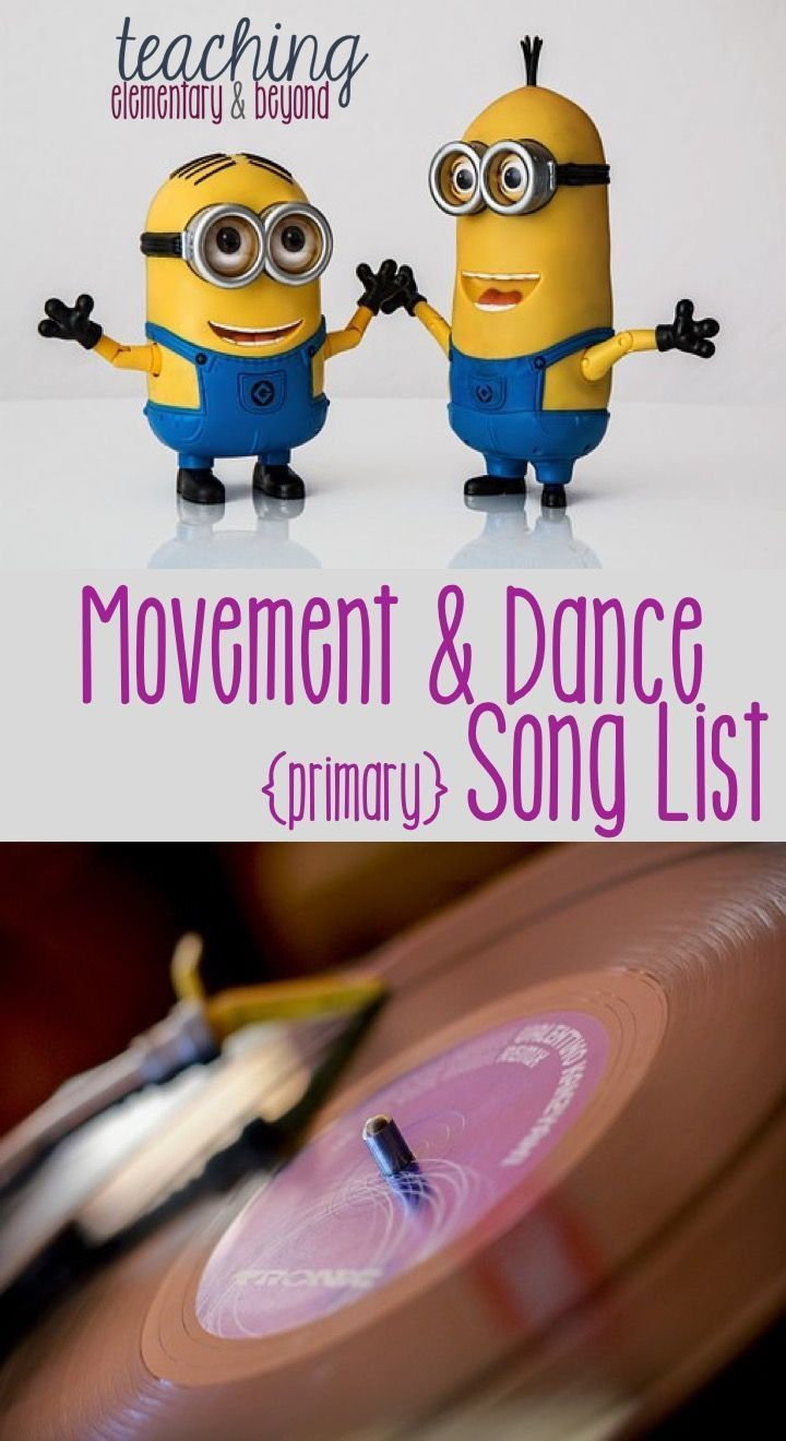 Engaging movement and dance song list for Kindergarten students to help your students regulate their behaviour.